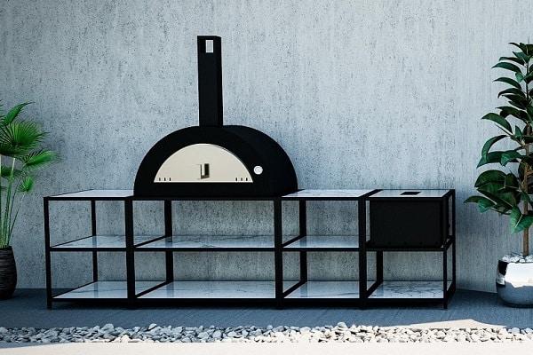 outdoor kithcen pizza clementi meneghino